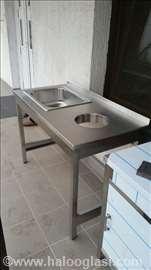 Radni stolovi i sudopere od prohroma