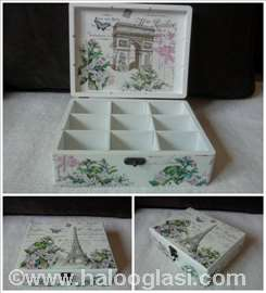 Kutija sa pregradama za čaj