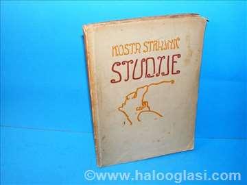 Studije - Kosta Strajnić, 1918