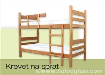 Krevet na sprat, drvo,  bukovina, akcija