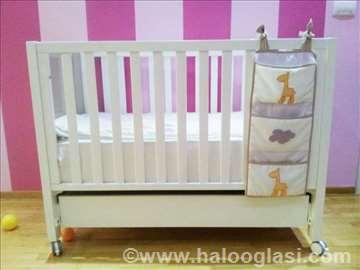Micuna bebi krevet 120x60cm i komoda za kupanje