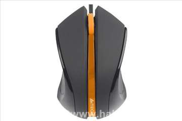 A4-N-310-1 V-Track padless mouse, black+orange