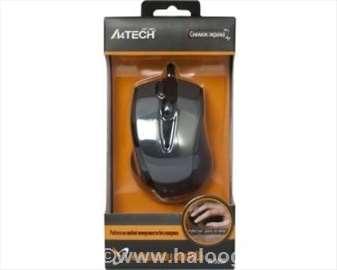A4-N-500F optički miš 2x-Click 1000Dpi Black USB