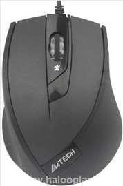 A4-N-600X-1 optički miš 600-1600Dpi Black USB