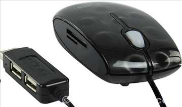 CMP-Mouse HUB10 optički miš+čitač kartica