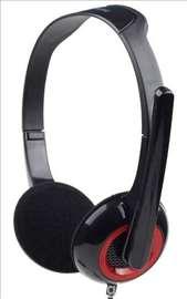 MHS-002 slušalica sa mikrofonom, 2x3.5 mm