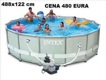 Intex ULTRA FRAME 488x122 cm sa pescanom pumpoNOVO