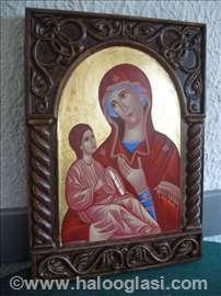 Pravoslavne ikone u duboreznom ramu