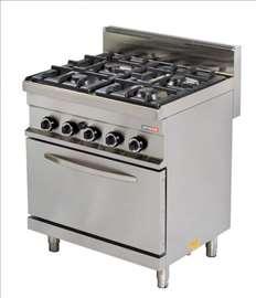 Plinski štednjak sa pećnicom - novo