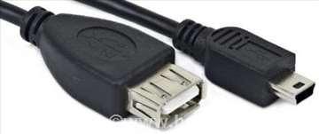 A-OTG-AFBM-002 USB OTG AF to Mini-BM kabl 15cm