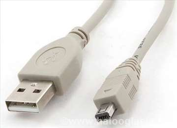 USB 2.0 Shielded AM to 8-pin Mini-USB kabl 1.8m