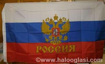 Zastava Rusije sa grbom
