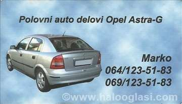 Opel Astra G enterijer i delovi enterijera
