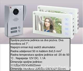 Video interfon set za dve porodice RL 10 W2