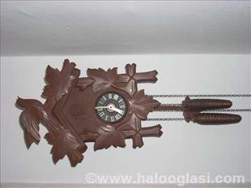 Nemački zidni sat sa dva tega - kukavica