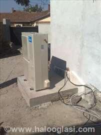 Toplotna pumpa-kućna instalacija sa podnim grejanj