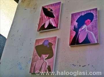 Devojke - set od 3 slike