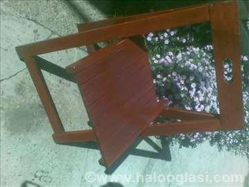 Sklopiva bukova braon stolica