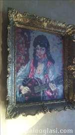 Vilerov goblen Ciganka sa gitarom