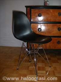 Eames Molded Plastic stolica - wire base DSR