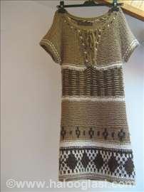 Štrikana haljina tunika Zara