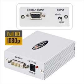 DVI na VGA/RGB/YPbPr konvertor