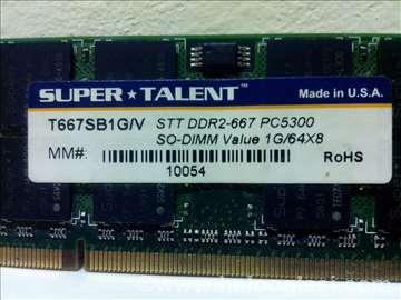 Memorija za laptop DDR 2 od 1 GB