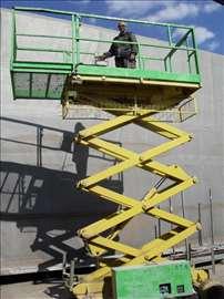 radna platforma na makaze