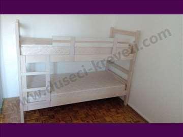 Krevet na sprat beli bajc + duseci