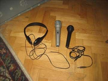 2 mikrofona i slusalice neispitano