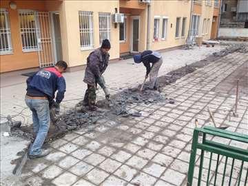 Rušenje, razbijanje betona-kop. zemlje-betoniranje