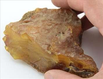 Masivni pravi Baltički Jantar Fosilnih Kamena