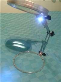 Lupa stona podesiva sa LED svetlom