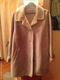 Krem kaput od prevrnute kože