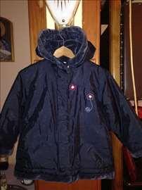 Teget jaknica cvetić sa kapuljačom veličina 104