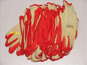 Rukavice radne crvene 12 pari