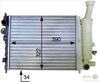 Citroen AX 1.0,1.1,1.4B, Hladnjak Vode