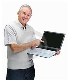 Za starije ljude praktična obuka na kompjuteru/tel