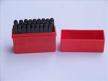 Slova za ukucavanje 4mm