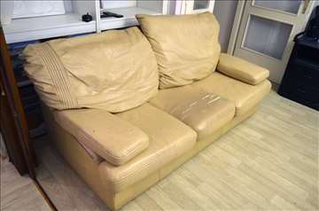 Polovna kožna garnitura - trosed+2 fotelje =Simpo