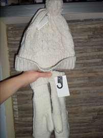 Komplet vunena kapa i vunene rukavice