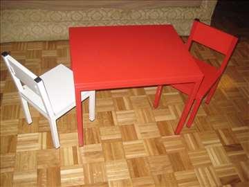 Dečiji set - sto i dve stolice