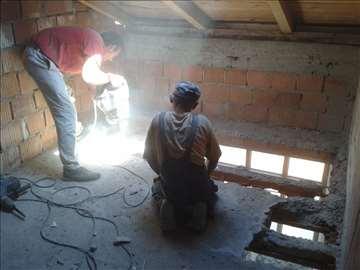 Lupanje i sečenje betona
