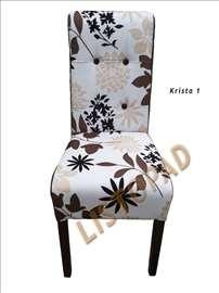 Trpezarijske stolice pliš Krista