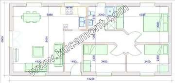 Montažna kuća Domo 46 - Montažne kuće KućaMont
