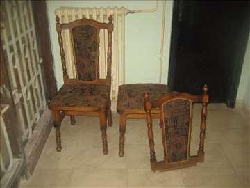 2 stolice retro