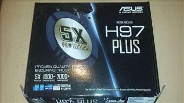 Asus H97plus ploča+procesor+memorija