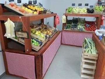 Police za voće i povrće od punog drveta
