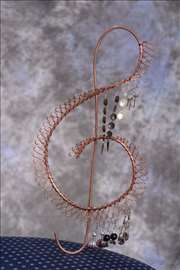Bakarni stalak za nakit - minđuše, ogrlice