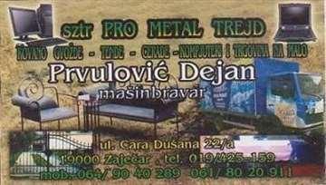 Pro Metal Trejd kovano gvožđe-tende-cerade i komp
